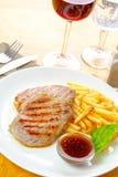 μπριζόλα τηγανητών κοτόπου Στοκ Εικόνα