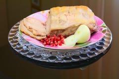 Μπριζόλα χοιρινού κρέατος που ψήνεται στο φούρνο Στοκ εικόνες με δικαίωμα ελεύθερης χρήσης