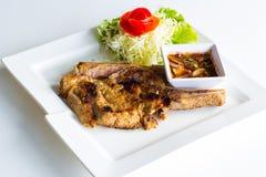 Μπριζόλα χοιρινού κρέατος σχαρών Στοκ Φωτογραφίες