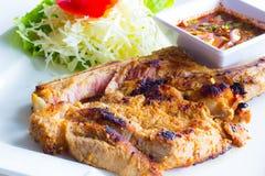 Μπριζόλα χοιρινού κρέατος σχαρών Στοκ φωτογραφίες με δικαίωμα ελεύθερης χρήσης