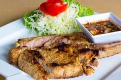 Μπριζόλα χοιρινού κρέατος σχαρών Στοκ εικόνα με δικαίωμα ελεύθερης χρήσης