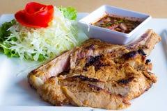 Μπριζόλα χοιρινού κρέατος σχαρών Στοκ εικόνες με δικαίωμα ελεύθερης χρήσης