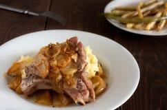 Μπριζόλα χοιρινού κρέατος Στοκ φωτογραφίες με δικαίωμα ελεύθερης χρήσης