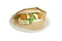 Μπριζόλα Andwich tartare Στοκ εικόνα με δικαίωμα ελεύθερης χρήσης