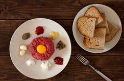 Μπριζόλα tartare Στοκ φωτογραφία με δικαίωμα ελεύθερης χρήσης