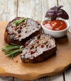Μπριζόλες βόειου κρέατος Στοκ Εικόνες