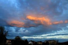 Μπρνο, πορτοκαλί βράδυ στοκ φωτογραφία με δικαίωμα ελεύθερης χρήσης
