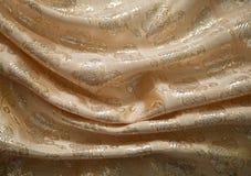 Μπροκάρ υφάσματος, ροδάκινο-που χρωματίζεται Στοκ εικόνα με δικαίωμα ελεύθερης χρήσης