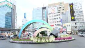 Μπροστά από το σταθμό Wakayama στοκ φωτογραφίες με δικαίωμα ελεύθερης χρήσης