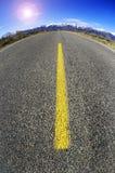 μπροστά μακρύς δρόμος Στοκ φωτογραφίες με δικαίωμα ελεύθερης χρήσης