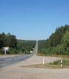 μπροστά μακρύς δρόμος Στοκ εικόνα με δικαίωμα ελεύθερης χρήσης