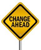 μπροστά σημάδι αλλαγής Στοκ Εικόνα