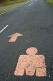 μπροστά ironman διαδρομή λογότυ στοκ εικόνες