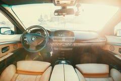 Μπροστινά καθίσματα BMW Στοκ Εικόνες