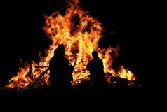 μπροστινά πρόσωπα τρία φωτιών Στοκ φωτογραφία με δικαίωμα ελεύθερης χρήσης