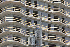 μπροστινά Windows σπιτιών γκαράζ πορτών λεπτομέρειας κατασκευής Στοκ Φωτογραφίες