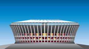 Μπροστινή άποψη γηπέδου ποδοσφαίρου Στοκ Φωτογραφίες
