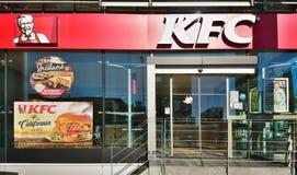 Μπροστινή άποψη εισόδων της KFC στοκ εικόνες με δικαίωμα ελεύθερης χρήσης
