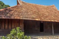 Μπροστινή άποψη ενός αρχαίου σπιτιού του Κεράλα, Κεράλα, Ινδία, στις 25 Φεβρουαρίου 2017 Στοκ φωτογραφίες με δικαίωμα ελεύθερης χρήσης