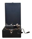Μπροστινή άποψη παλαιό gramophone Στοκ Φωτογραφία