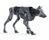 Μπροστινή άποψη ρομπότ λύκων περπατήματος Απεικόνιση αποθεμάτων