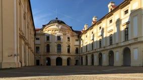Μπροστινή άποψη του κάστρου Austerlitz, Μοραβία, Δημοκρατία της Τσεχίας απόθεμα βίντεο