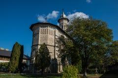 Μπροστινή άποψη του μοναστηριού Dragomirna Στοκ φωτογραφία με δικαίωμα ελεύθερης χρήσης