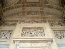 μπροστινή διακόσμηση pantheon στοκ φωτογραφία με δικαίωμα ελεύθερης χρήσης