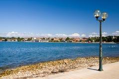 μπροστινή οδός θάλασσας λαμπτήρων porec στοκ φωτογραφία με δικαίωμα ελεύθερης χρήσης