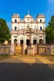 Μπροστινή οδός Β εκκλησιών του Pedro ST Antony σημείου Jaffna Στοκ Φωτογραφίες