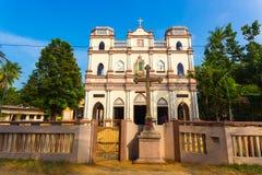 Μπροστινή οδός Χ εκκλησιών του Pedro ST Antony σημείου Jaffna Στοκ εικόνα με δικαίωμα ελεύθερης χρήσης