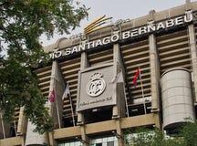 Μπροστινή πρόσοψη γηπέδου ποδοσφαίρου της Real Madrid, Μαδρίτη, Ισπανία Στοκ Φωτογραφίες
