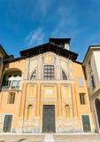 Μπροστινή πρόσοψη της βασιλικής Di SAN Giacomo σε Como, Ιταλία Στοκ φωτογραφίες με δικαίωμα ελεύθερης χρήσης