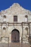 Μπροστινή πρόσοψη της Alamo αποστολής στο San Antonio, Τέξας Στοκ Εικόνα