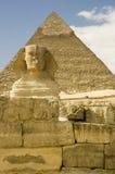 μπροστινή πυραμίδα sphinx Στοκ εικόνα με δικαίωμα ελεύθερης χρήσης