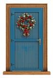 Μπροστινή πόρτα Χριστουγέννων Στοκ φωτογραφίες με δικαίωμα ελεύθερης χρήσης