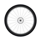 Μπροστινή ρόδα ποδηλάτων με το διάνυσμα φρένων δίσκων διανυσματική απεικόνιση