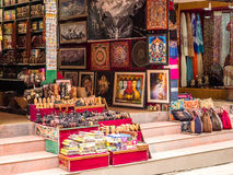 Μπροστινή σκηνή καταστημάτων του Κατμαντού, Νεπάλ Στοκ Φωτογραφίες