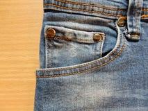Μπροστινή τσέπη του Jean Στοκ Εικόνα