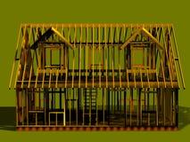 μπροστινή όψη σπιτιών πλαισί&omeg Στοκ Εικόνες