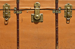 Μπροστινή όψη της εκλεκτής ποιότητας βαλίτσας Στοκ Φωτογραφίες