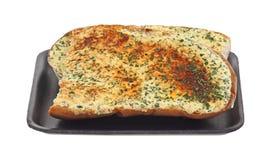 μπροστινός δίσκος σκόρδου ψωμιού Στοκ εικόνα με δικαίωμα ελεύθερης χρήσης