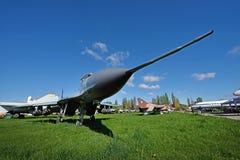 Μπροστινός-πετώντας μαχητής MIG στο μουσείο της αεροπορίας σε Kyiv Στοκ Εικόνες