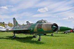 Μπροστινός-πετώντας μαχητής MIG στο μουσείο της αεροπορίας σε Kyiv Στοκ φωτογραφία με δικαίωμα ελεύθερης χρήσης