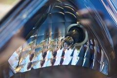 Μπροστινός προβολέας αυτοκινήτων βολβών Στοκ Φωτογραφία