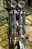 Μπροστινός προβολέας μοτοσικλετών Στοκ Φωτογραφία
