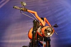 Μπροστινός προβολέας μοτοσικλετών Στοκ Εικόνα