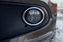 Μπροστινός στενός επάνω αυτοκινήτων λαμπτήρων ομίχλης Στοκ Εικόνες