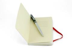 μπροστινό ασήμι πεννών σελίδων σημειωματάριων κίτρινο Στοκ εικόνες με δικαίωμα ελεύθερης χρήσης