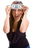 μπροστινό κορίτσι δολαρί&omega Στοκ Φωτογραφία